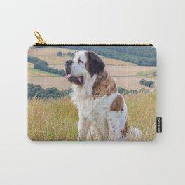 St Bernard dog Carry-All Pouch