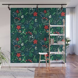 Merry Christmas pattern Wall Mural