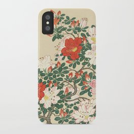 Vintage Azalea Japanese Woodcut iPhone Case