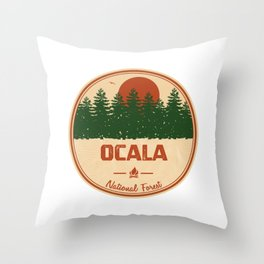 Ocala National Forest Throw Pillow