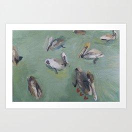 Pelican Pack Art Print