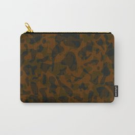 Spotted brown blots on a dark military. Carry-All Pouch