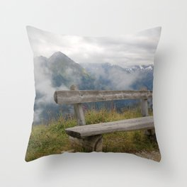 A cloudy day in the Austrian Alps Throw Pillow