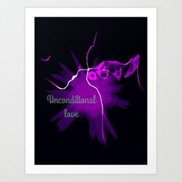 Unconditionnal love Art Print