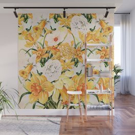 Wordsworth  and the daffodils. Wall Mural