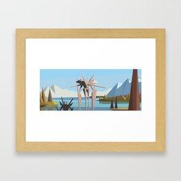 robot in tahoe Framed Art Print