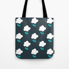 Rain Cloud Pattern Tote Bag