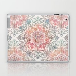 Autumn Spice Mandala in Coral, Cream and Rose Laptop & iPad Skin