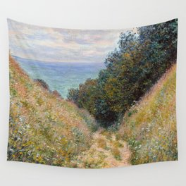 "Claude Monet ""Road at La Cavée, Pourville"" Wall Tapestry"