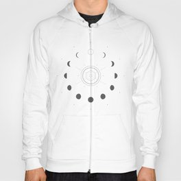 Moon Phases Light Hoody