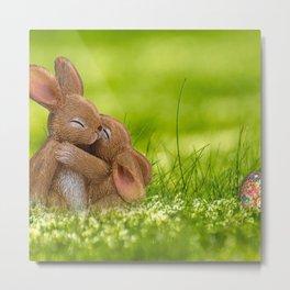 Easter Bonny | Lapin de Pâques Metal Print