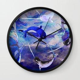 Ocean narwhal  Wall Clock