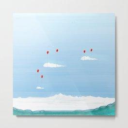 Red Balloons Metal Print