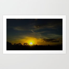Sunset In The Welsh Countryside Art Print