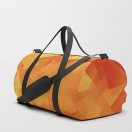 Cubism in orange Duffle Bag