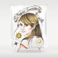 ahs Shower Curtains featuring Maggie Esmerelda-AHS by MELCHOMM