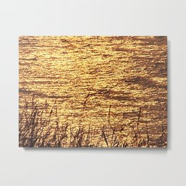 Sparkling Sea of Gold Metal Print