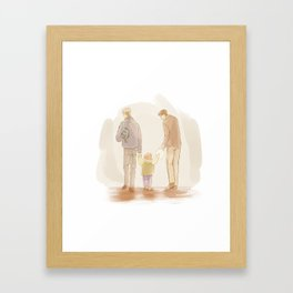 Becoming a Family Framed Art Print