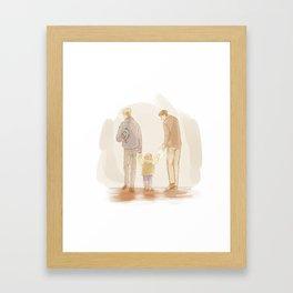 Becoming a Family Framed Art Print
