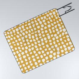 Dots / Mustard Picnic Blanket