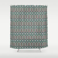 folk Shower Curtains featuring Folk by Ana Types Type