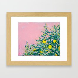 Electric Lemonade Framed Art Print