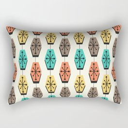 Mid Century Modern Hexagons Colorful Rectangular Pillow