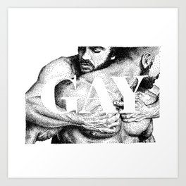 Gay Lettering Typography Art Print