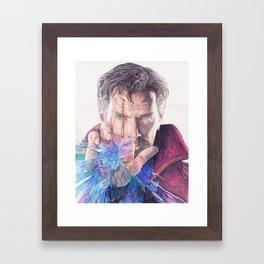 Dr Strange Pen Drawing Framed Art Print