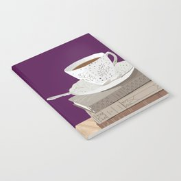 Teacup, Jane Austen, & Charlotte Brontë Books Notebook
