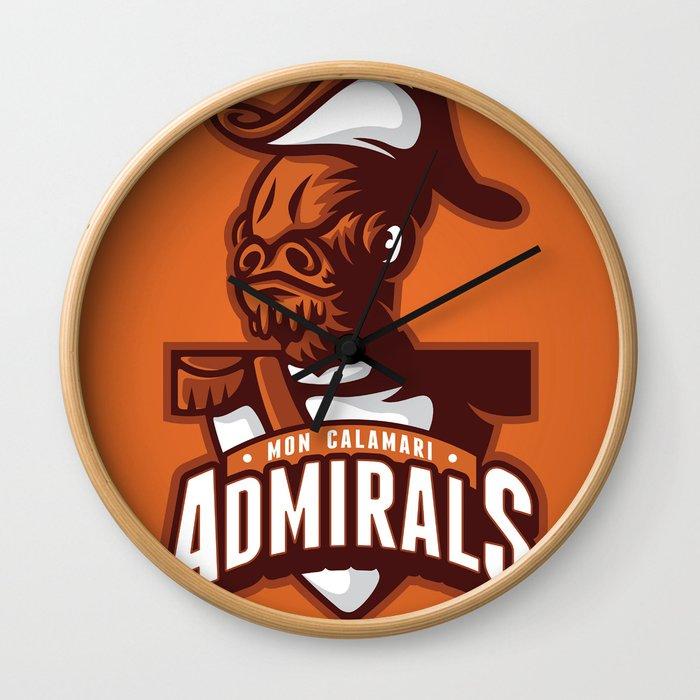Mon Calamari Admirals on Orange Wall Clock