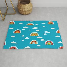 Rainbow Cloud Pattern by Robayre Rug