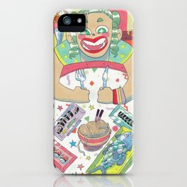 Hungry girl iPhone Case