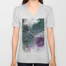 Abstract Composition 6J by Kathy Morton Stanion Unisex V-Neck