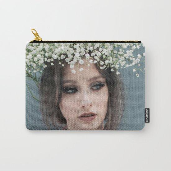 Floral portrait Carry-All Pouch