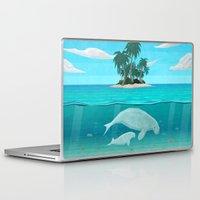 manatee Laptop & iPad Skins featuring Manatee Island by Lidra