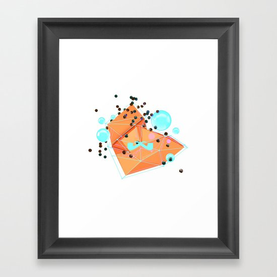 Cascade. Framed Art Print