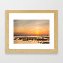 Cape Cod sunset Framed Art Print