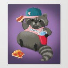 Rad Raccoon Canvas Print