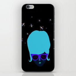 Retro lady with a beehive hairdo iPhone Skin