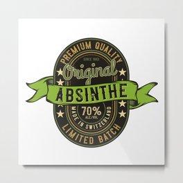 Absinthe - Green Fairy - 07 - bright Metal Print