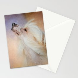 Wind In Her Hair - Chinese Crested Hairless Dog Stationery Cards