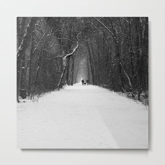 Snow White Morning Metal Print