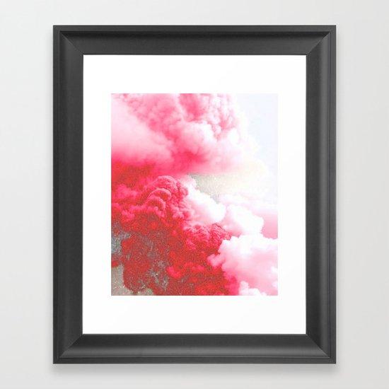 Pink Explosion Framed Art Print