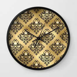 Gold Gothic Design Pattern Wall Clock
