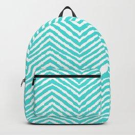 Chevron, Blue, Minimal, Pattern, Cute, Nursery, Kids, Modern art Backpack
