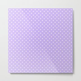 Purple background with polka dot Metal Print