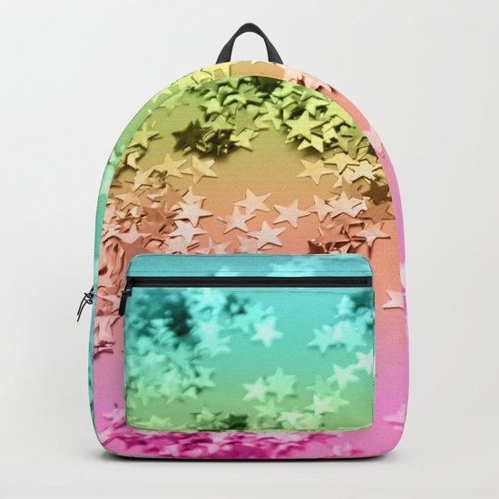 Rainbow Stars Glitter #1 #shiny #decor #art #society6 by anitabellajantz