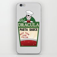 chef iPhone & iPod Skins featuring CHEF DRACULA by DROIDMONKEY