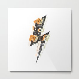 Dj's Lightning Of Vinyl Music Metal Print